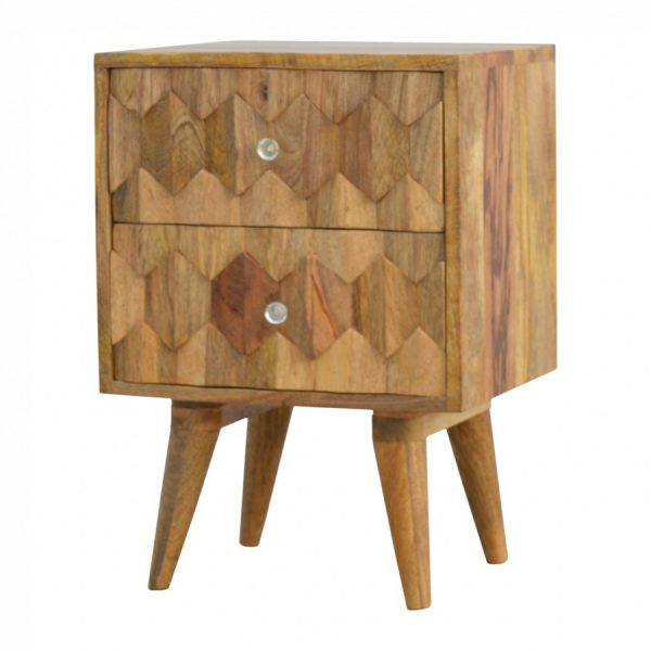 Mango Hill Pineapple Carving Bedside Table