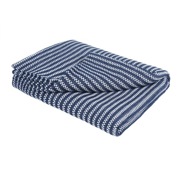 Revival Blue Stripe Throw