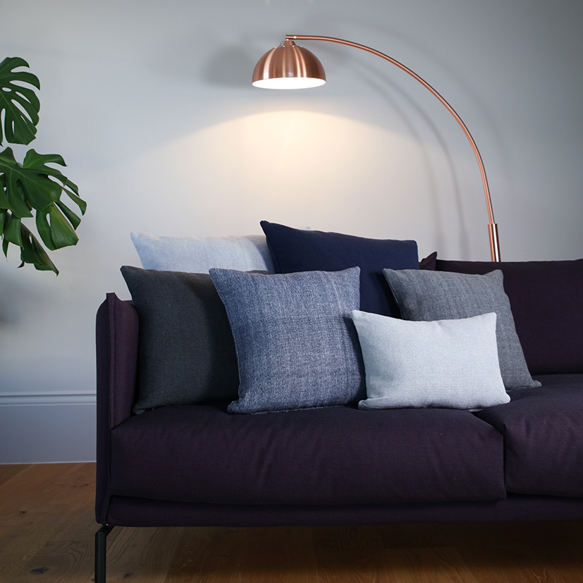 Revival Indigo Rectangular Cushion