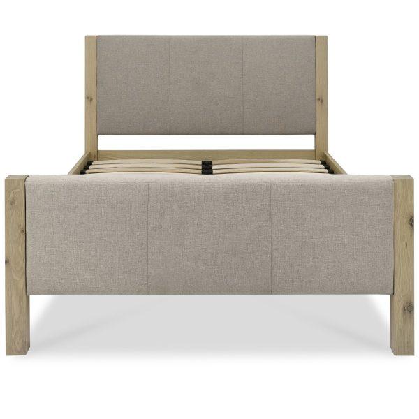 Turin Aged Oak Upholstered High Footend Bedstead