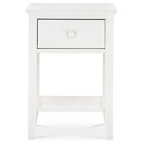 Ashby White 1 Drawer Nightstand