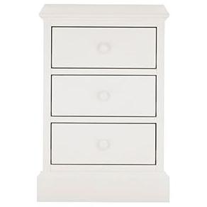 Ashby White 3 Drawer Nightstand