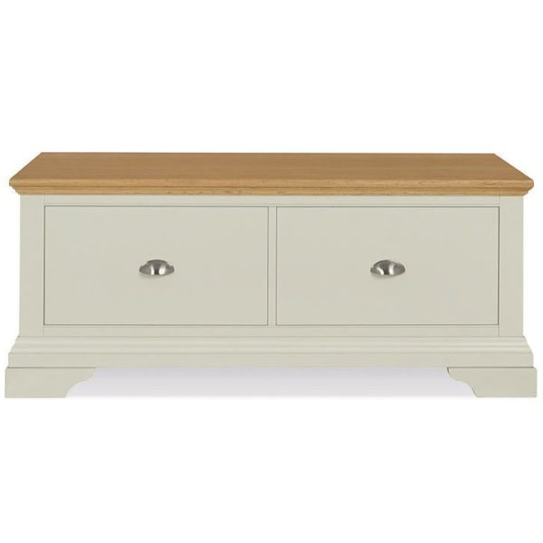 Hampstead Soft Grey & Pale Oak Blanket Box