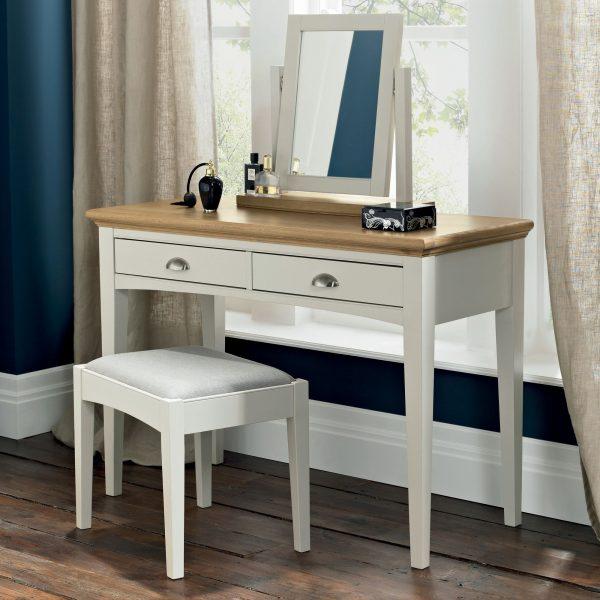 Hampstead Soft Grey & Pale Oak Dressing Table