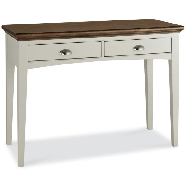 Hampstead Soft Grey & Walnut Dressing Table