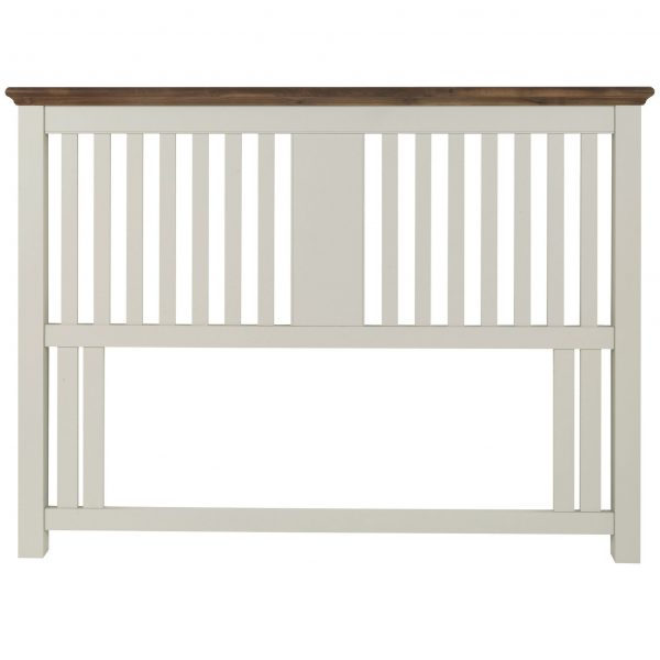 Hampstead Soft Grey & Walnut Slatted Headboard