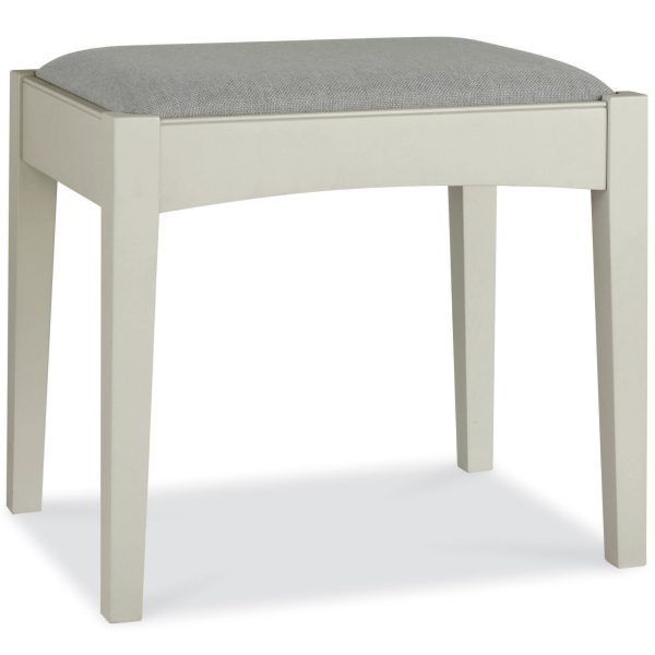 Hampstead Soft Grey & Walnut Stool