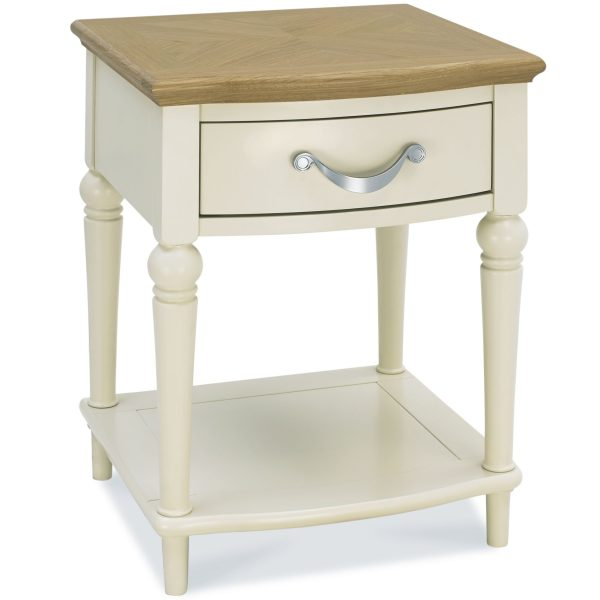 Montreux Oak & Antique White 1 Drawer Nightstand