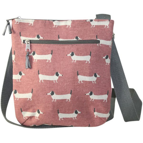Pink Sausage Dog Messenger Bag