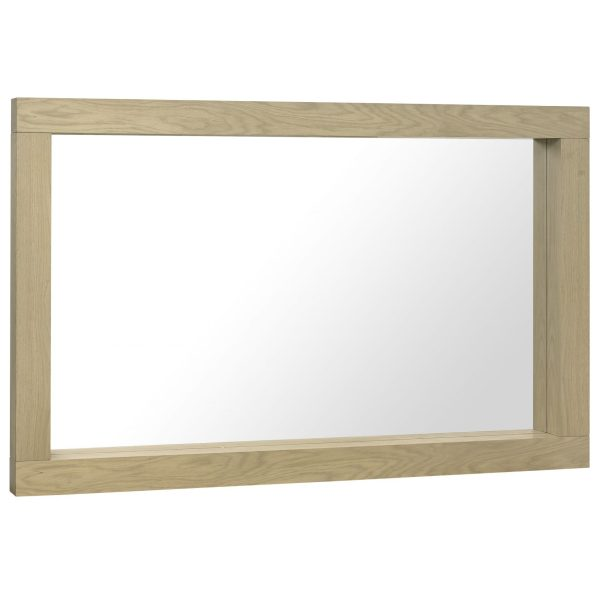 Turin Aged Oak Large Mirror