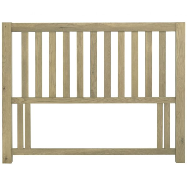 Turin Aged Oak Slatted Headboard