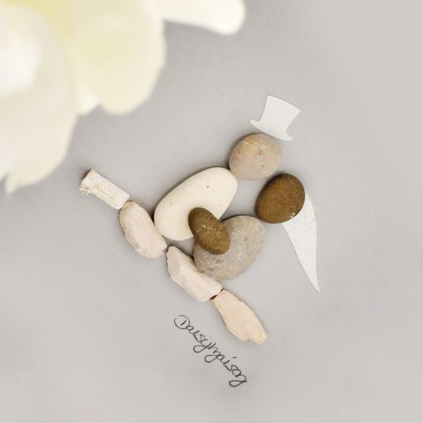 'Forever Starts Today' Bride & Groom Pebble Picture