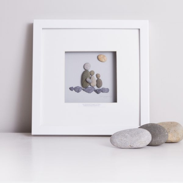 'My Dad Rocks' Pebble Picture