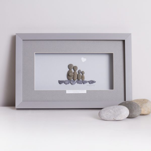 'Our Perfectly Imperfect Little Family' Pebble Picture