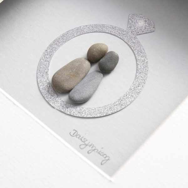 'Our Story Begins Here' Engagement Pebble Picture