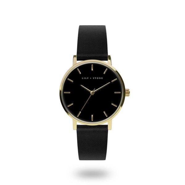 5th Avenue Collection // Gold & Black Face | Black Strap