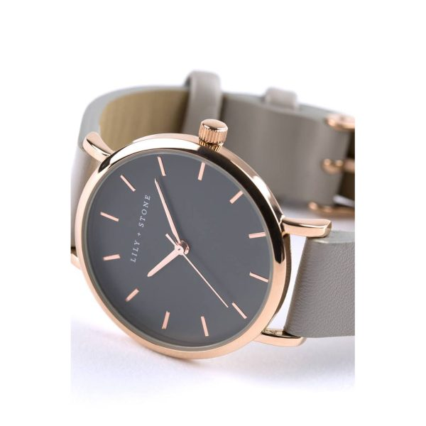 5th Avenue Collection // Rose Gold & Grey   Grey Strap