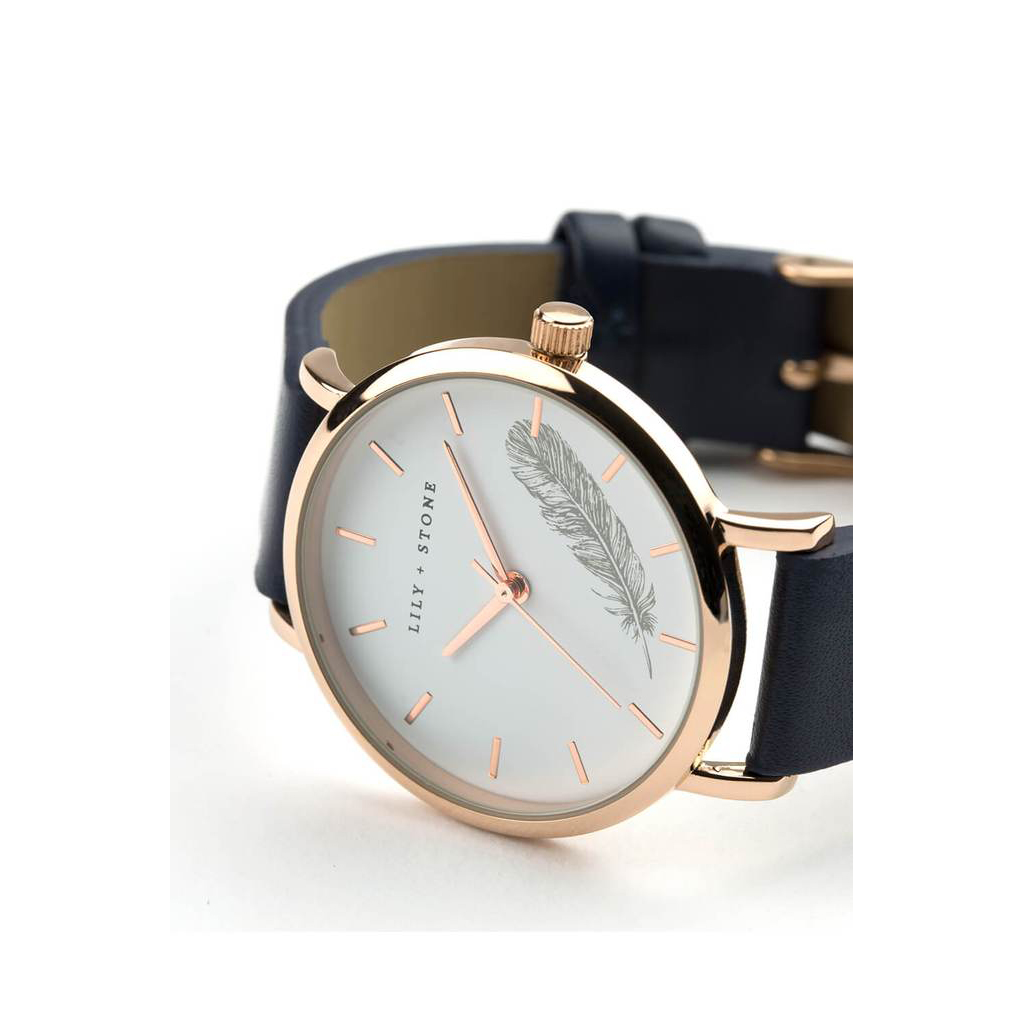5th Avenue Collection // Rose Gold & Navy | Feather