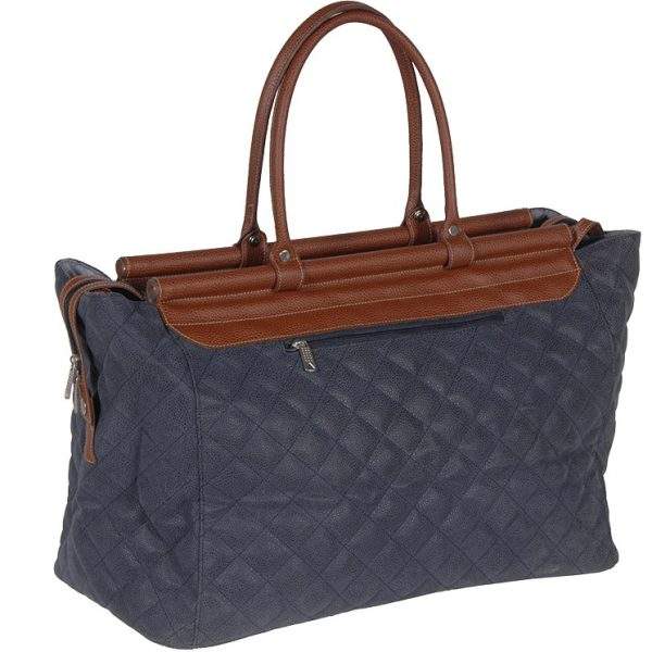 Blue & Tan Quilted Bag