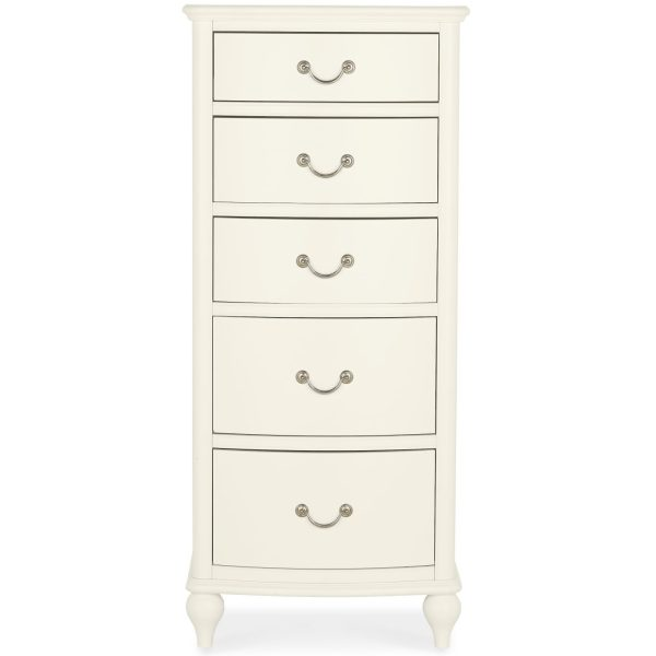 Bordeaux Ivory 5 Drawer Tall Chest