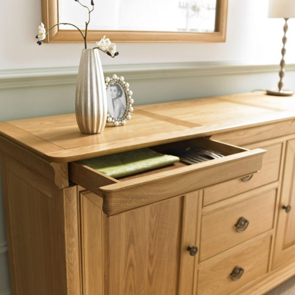 Chantilly Oak Wide Sideboard