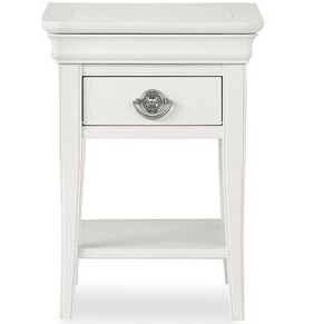 Chantilly White 1 Drawer Nightstand