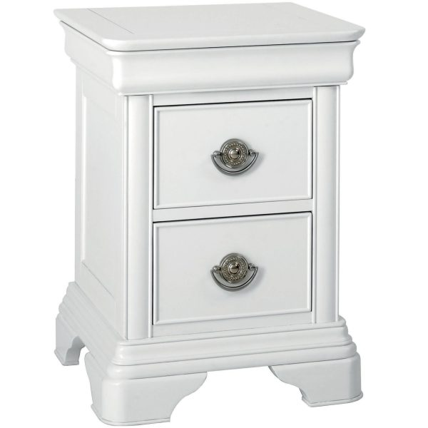 Chantilly White 2 Drawer Nightstand