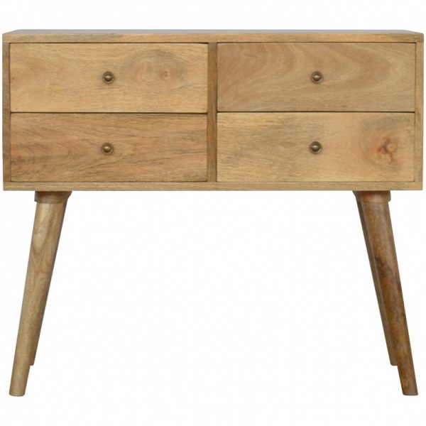 Mango Hill 4 Drawer Nordic Style Console Table