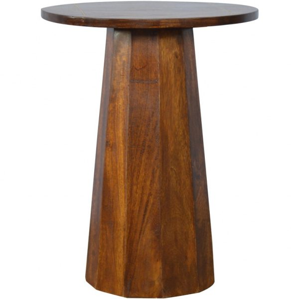 Mango Hill Round Table with Brass Inlay