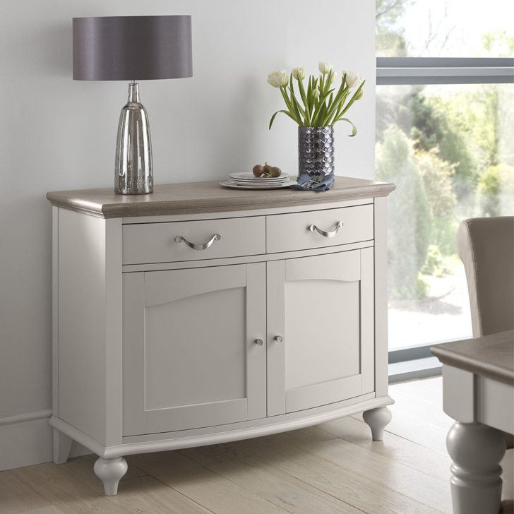 Montreux Washed Oak Soft Grey Narrow Sideboard