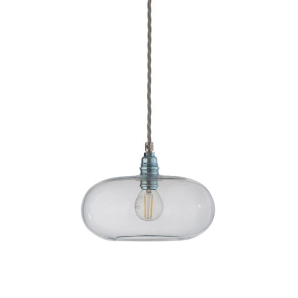 Horizon Pendant Lamp, Clear With Silver, 21cm