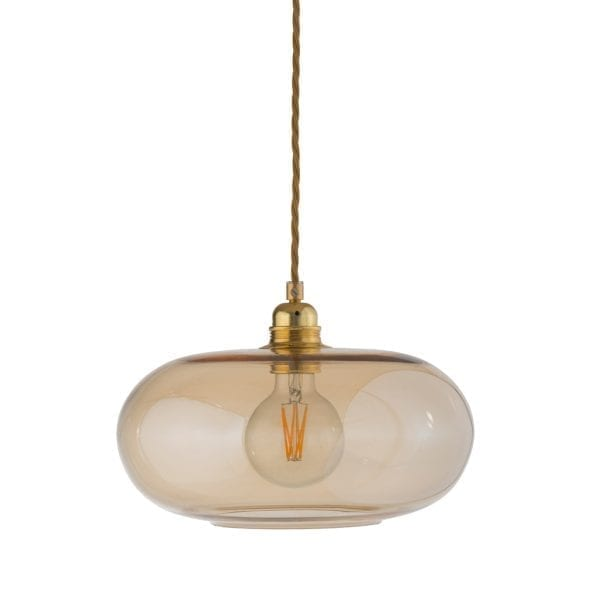 Horizon Pendant Lamp, Golden Smoke, 29cm