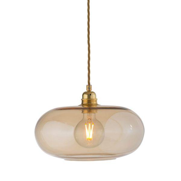 Horizon Pendant Lamp, Golden Smoke, 29cm