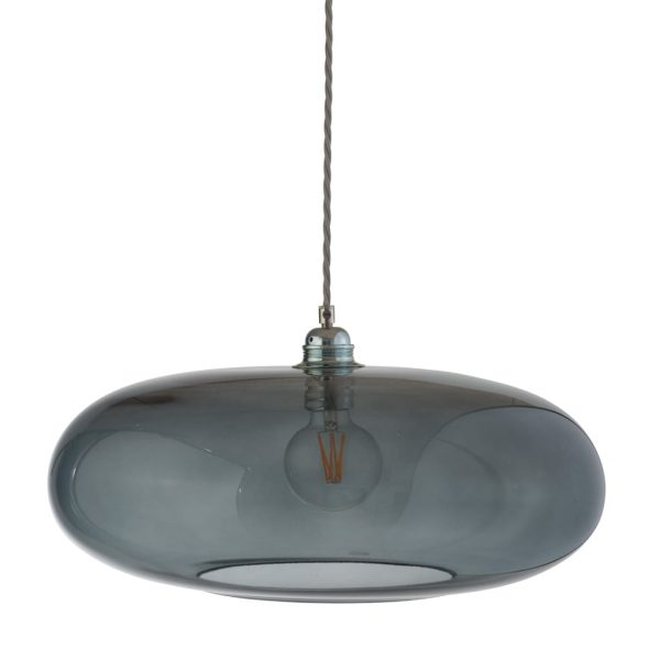 Horizon Pendant Lamp, Smokey Grey, 45cm