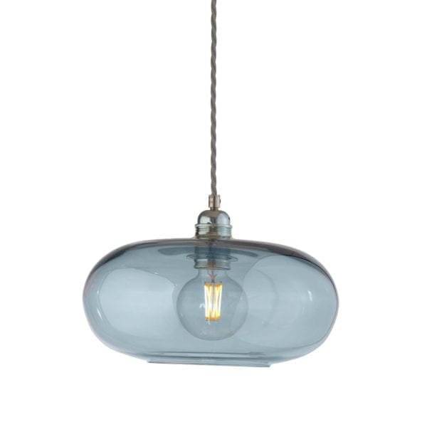 Horizon Pendant Lamp, Topaz Blue, 29cm
