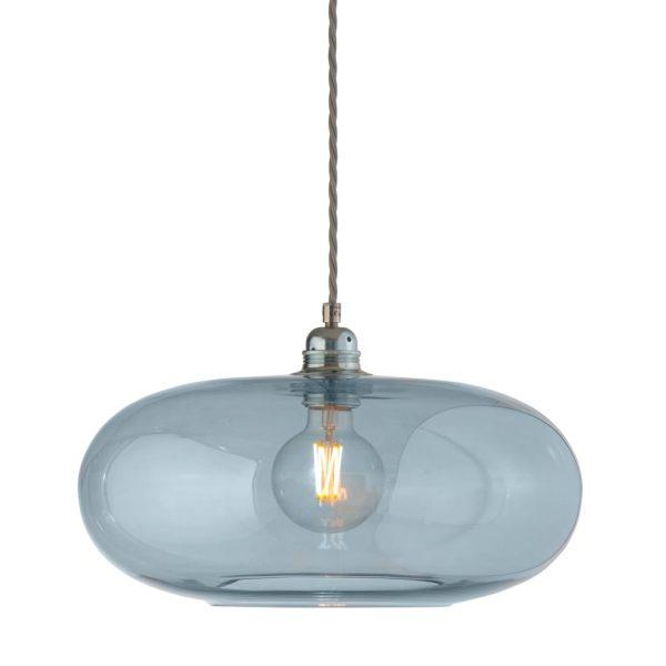 Horizon Pendant Lamp, Topaz Blue, 36cm