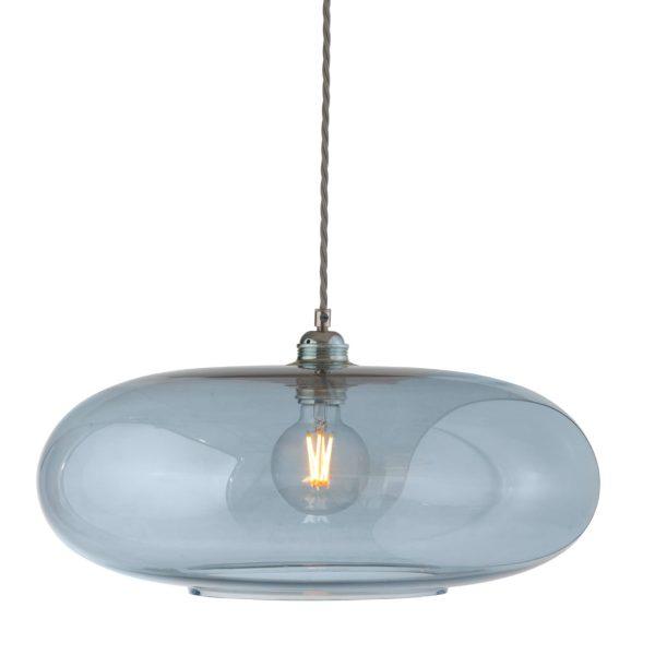 Horizon Pendant Lamp, Topaz Blue, 45cm
