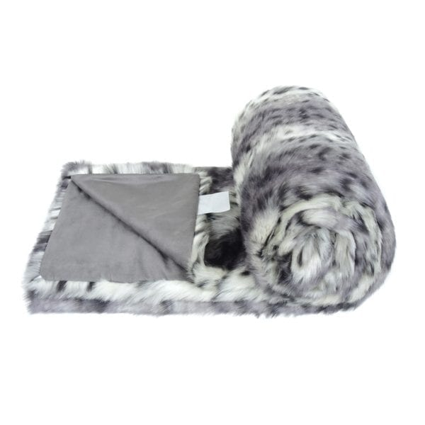Arctic Leopard Faux Fur Bed Runner