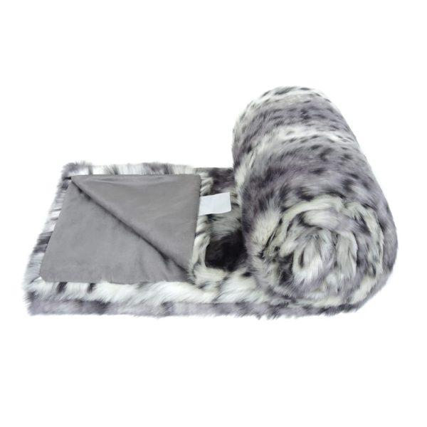 Arctic Leopard Faux Fur Bed Runner