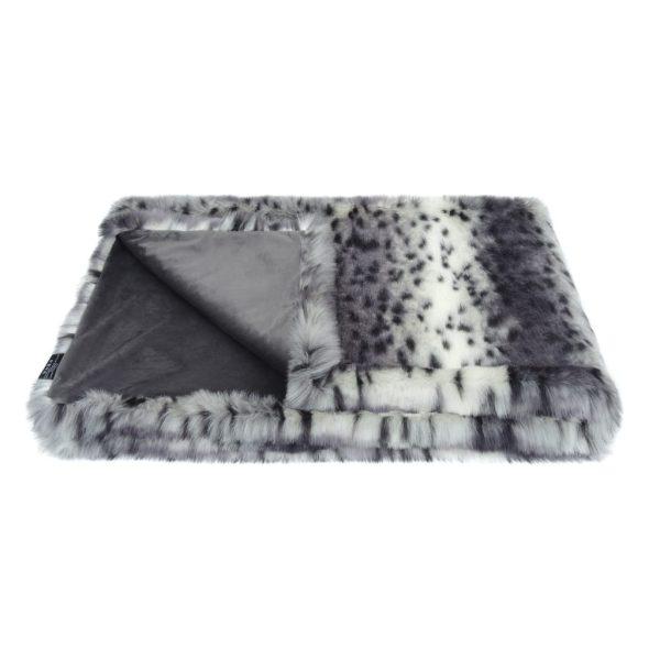 Arctic Leopard Faux Fur Comforter