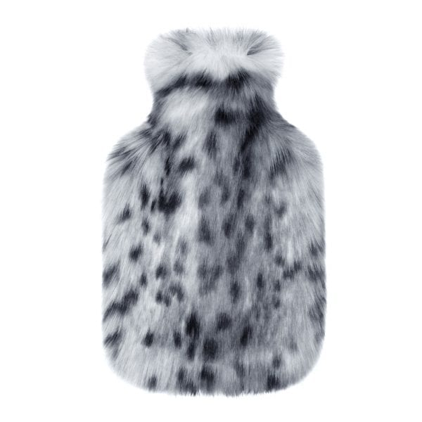 Arctic Leopard Faux Fur Hot Water Bottle