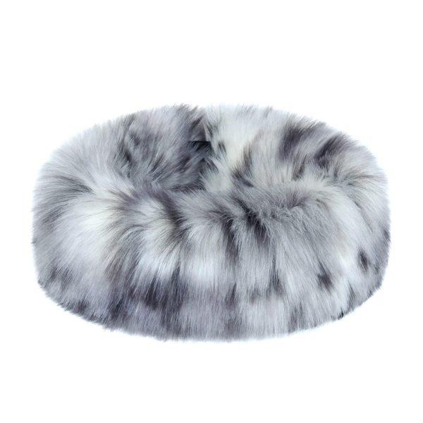Arctic Leopard Faux Fur Huff