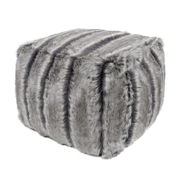 Aspen Faux Fur Cube