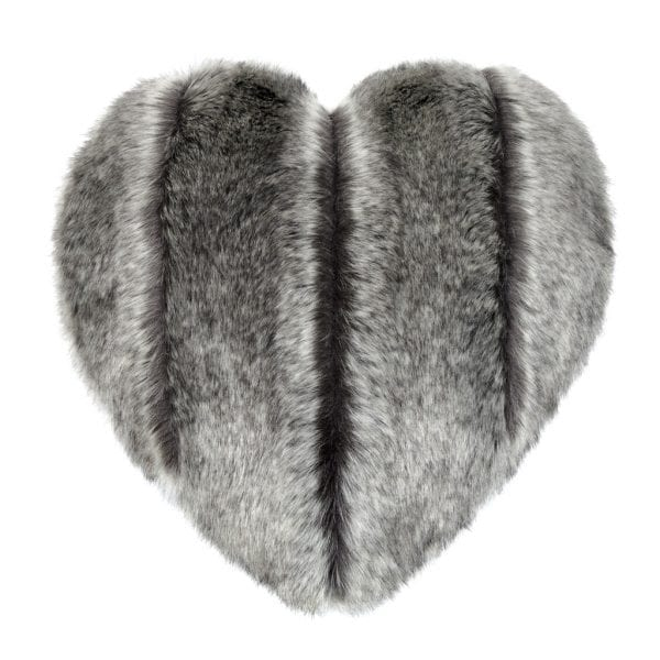 Aspen Faux Fur Heart Cushion