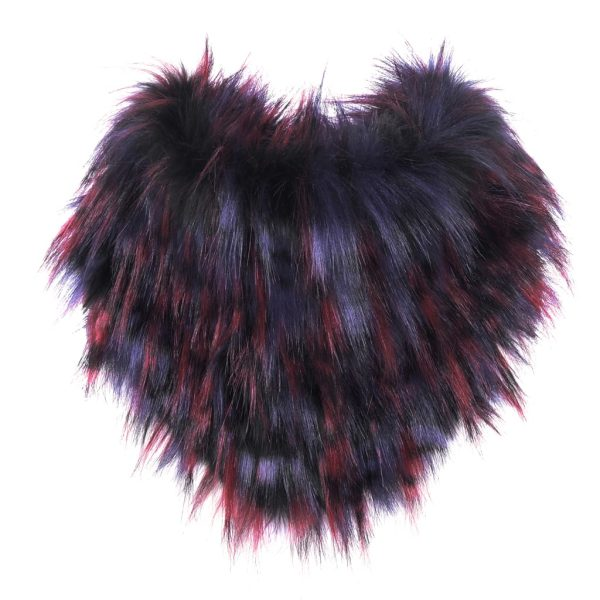 Berry Faux Fur Bandana