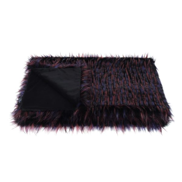 Berry Faux Fur Comforter