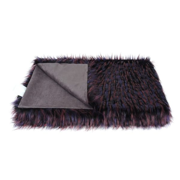 Berry Faux Fur Throw