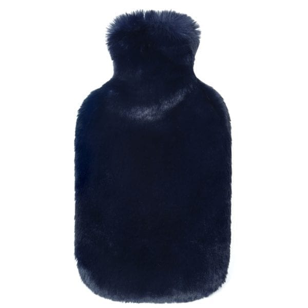 Blue Cloud Faux Fur Hot Water Bottle