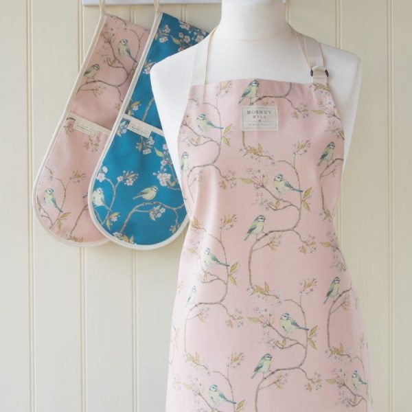 Blue Tit on Blossom Ditsy Print Apron