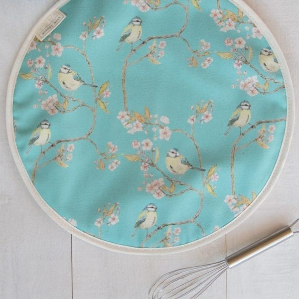 Blue Tit on Blossom Ditsy Print Hob Cover